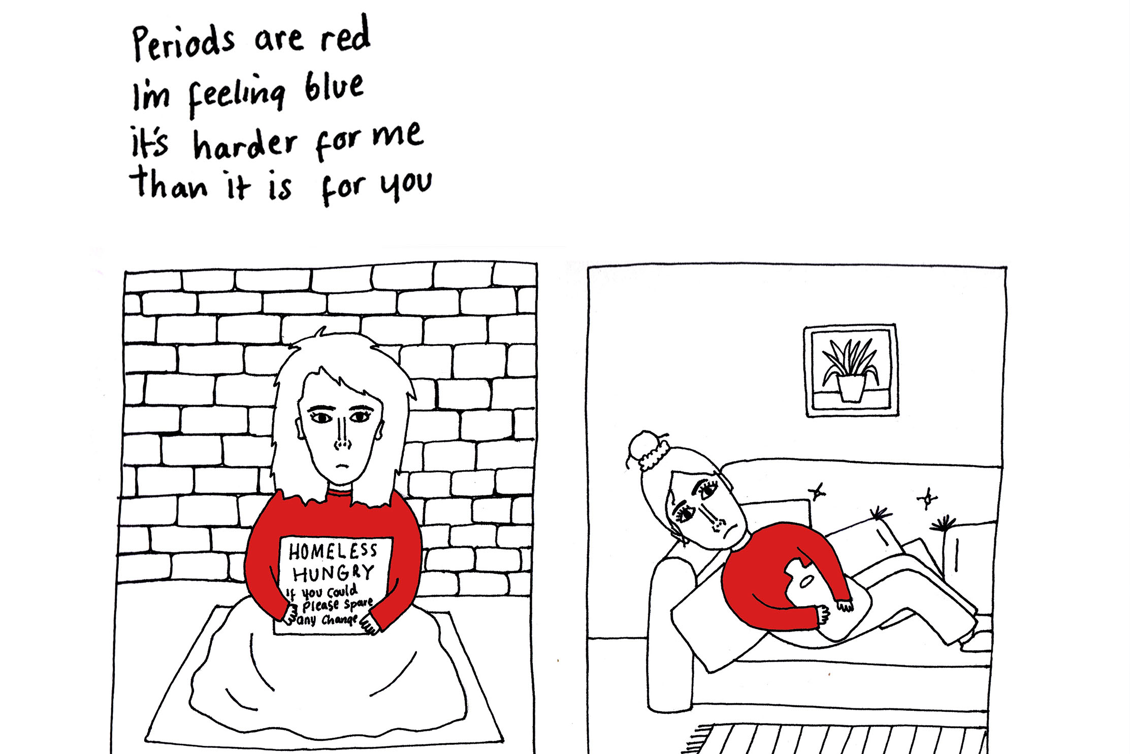Homeless Periods - by Sarah Hunter