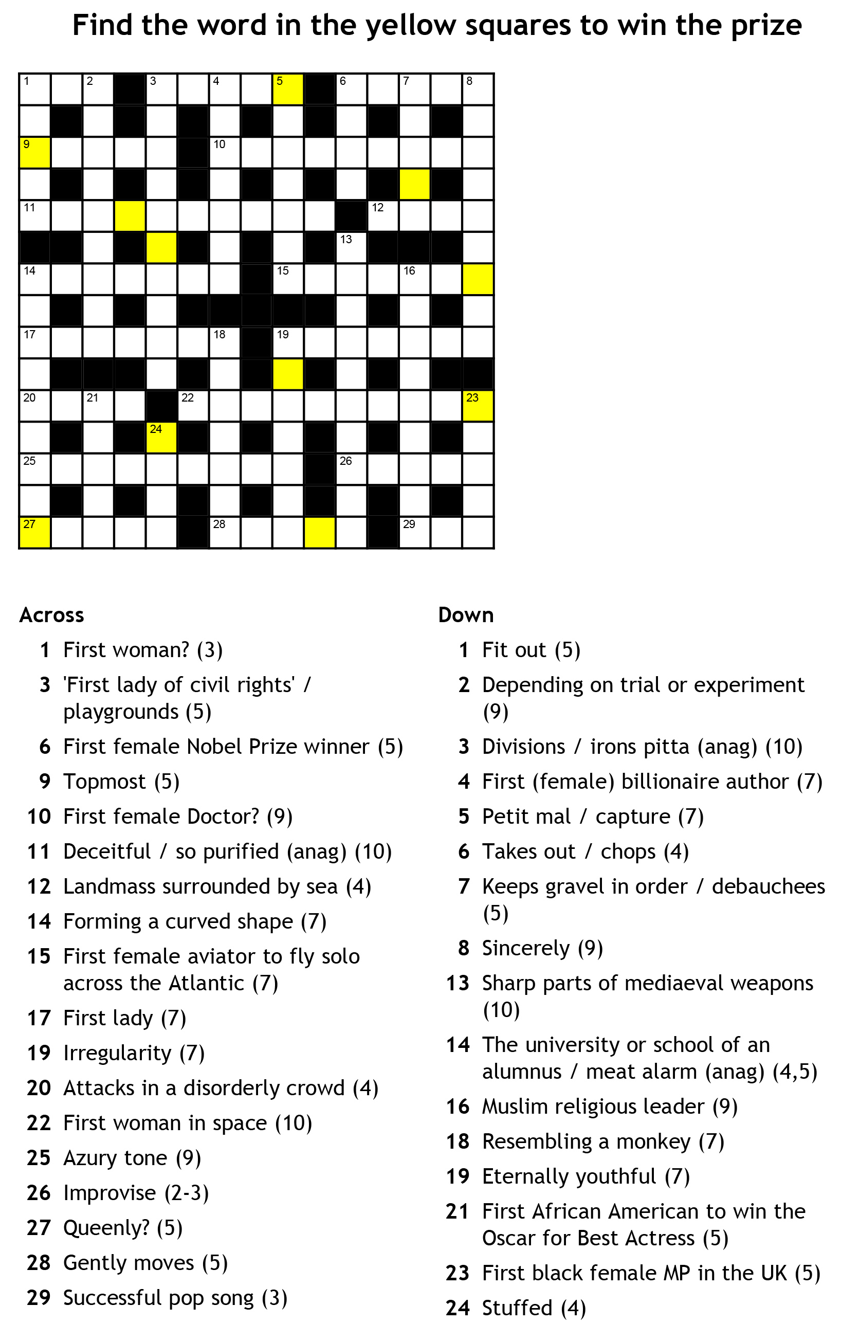 BN1 Magazine March Crossword