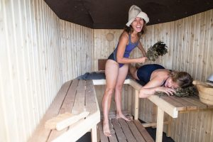 Nammie Matthews gets invigorated at a Yin and Yang Sauna experience.