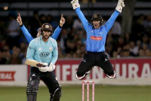 Paul Donati and Lucietta Marganelli get bowled over, as Sussex Sharks take on Surrey at the T20 Cricket 2019