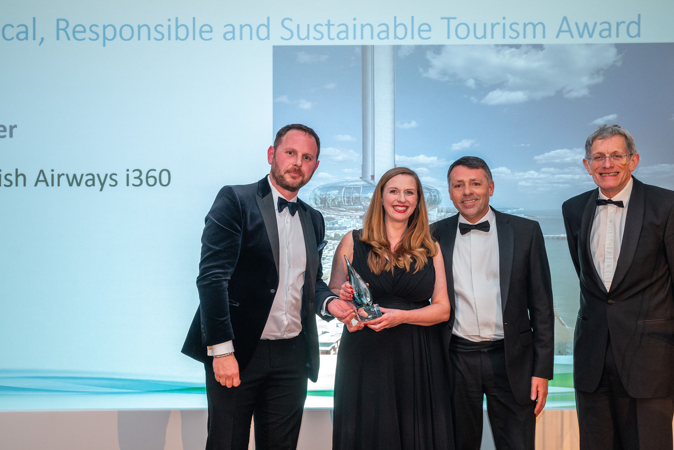Brighton's BA i360 has won the Silver category for the Ethical, Responsible and Sustainable Tourism Award at the Beautiful South Awards for Excellence