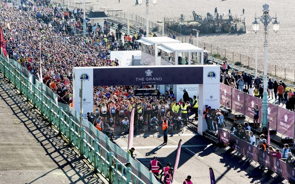 Start of the 2019 Half Marathon