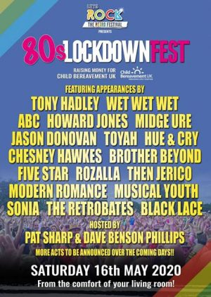 80s Lockdownfest is bringing the UK's biggest retro festival into your home on Sat 16 May 2020 at 7pm