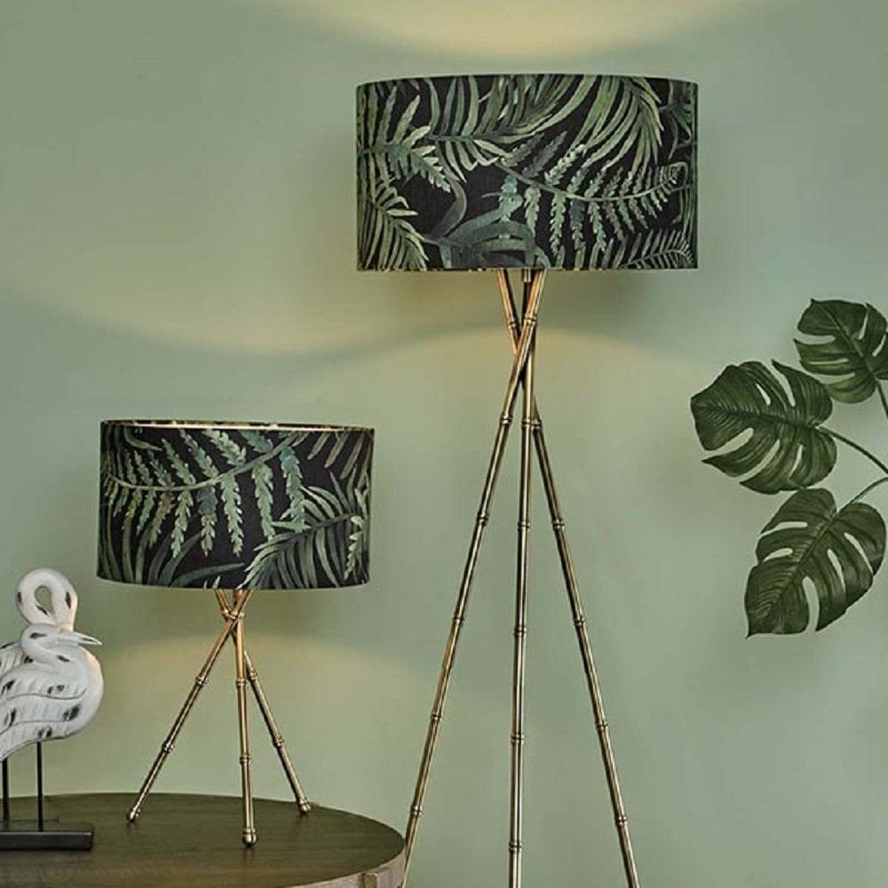 Bamboo Leaf Lampshade - Harrison Lighting
