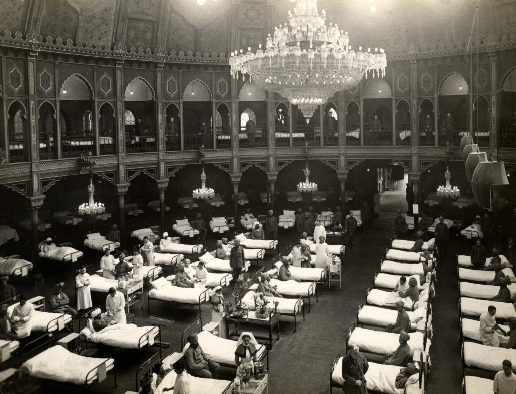 The Royal Pavilion as a hospital in WWI