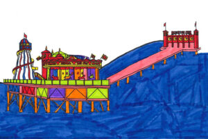 Four local schoolchildren have been recognised for their artistic talent and creativity in re-imagining some of Brighton's most iconic buildings, in the Edward Street Quarter colouring competition