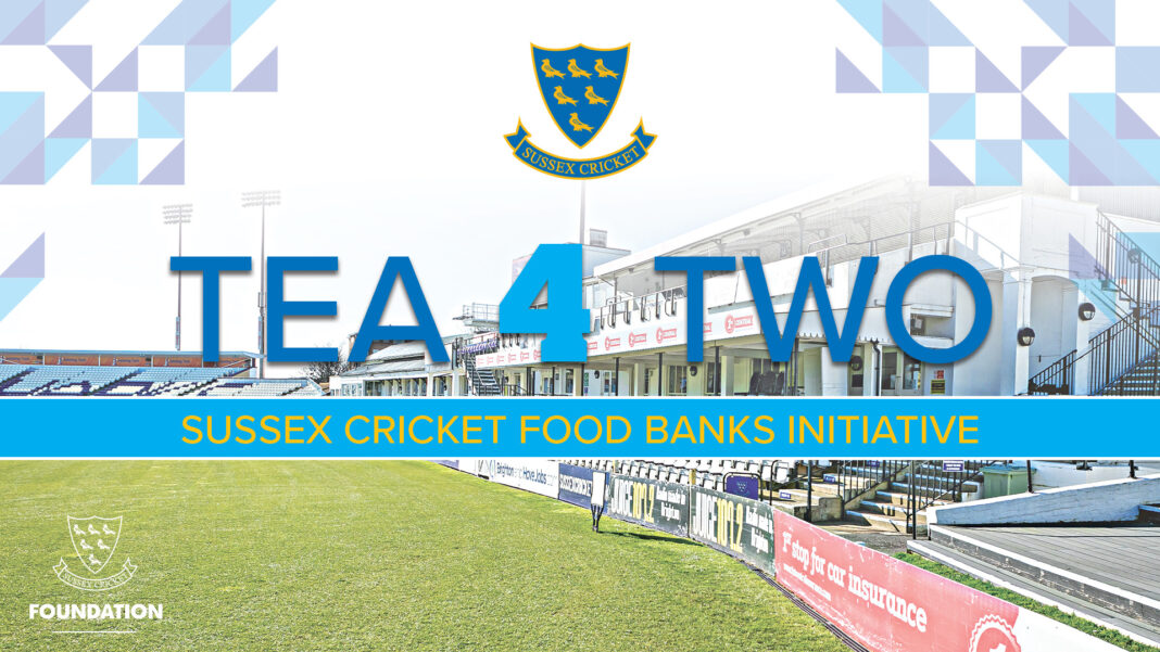 Sussex Cricket and Sussex Cricket Foundation have launched the 'Tea 4 Two' food bank initiative