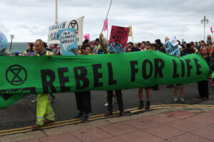 Extinction Rebellion are holding a series of protests across Brighton on Fri 28 – Sun 30 Aug, to sound the alarm about the climate crisis