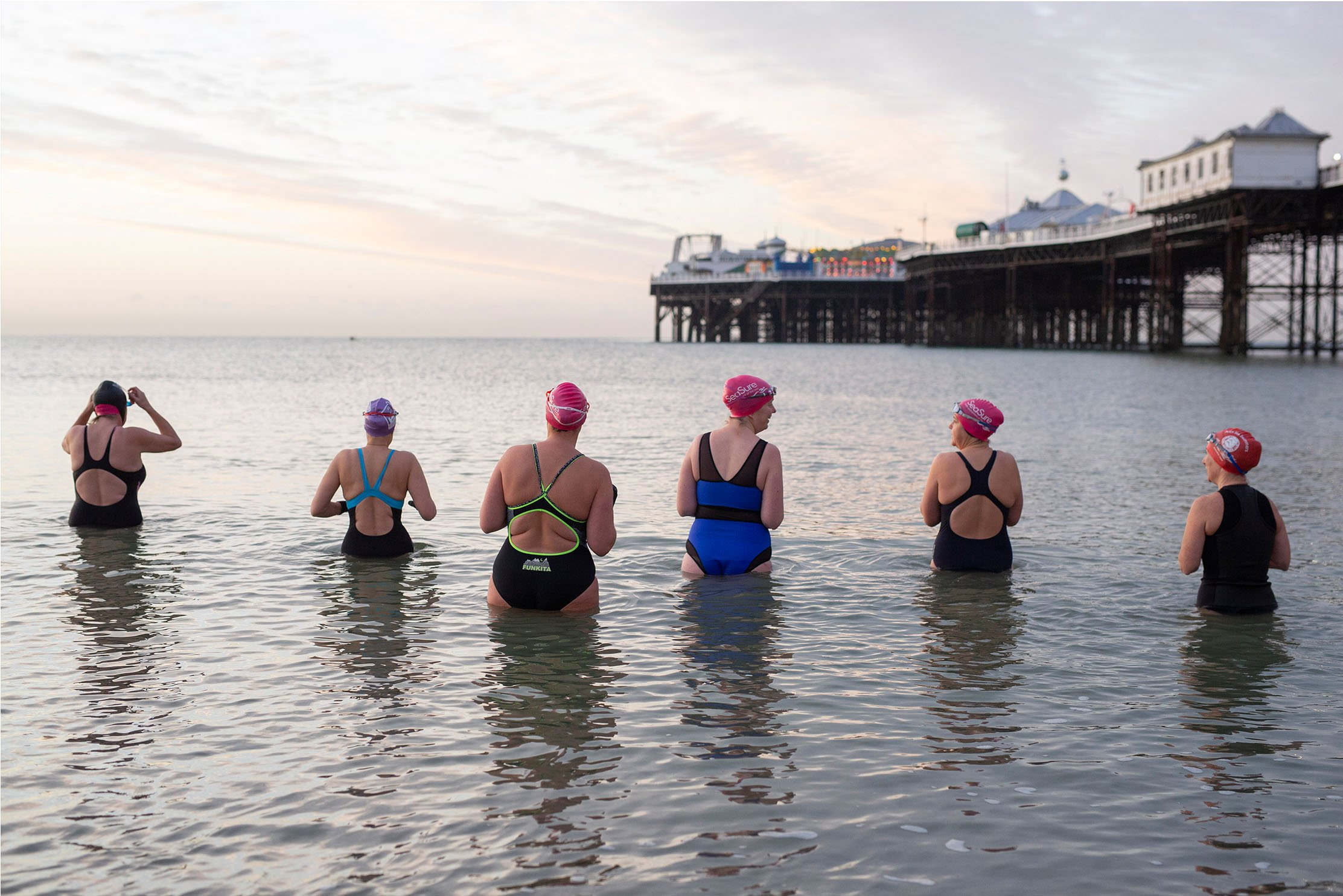 A Winters Swim Jonathan Browning brings new exhibition charting the increase in sea swimming during pandemic, runs at Worthing's The Seafront Galley until Oct 2021
