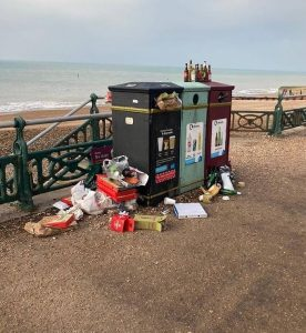 Sourced from Surfers Against Sewage - Brighton based group who organise beach cleans and campaign for environmental awareness and reduced pollution on our beaches.