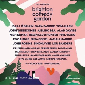 Brighton Comedy Garden Sold Out Line Up