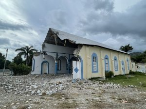 Church collapsed during mass christening service. 22 people have died, including children. Photo: James Clayton