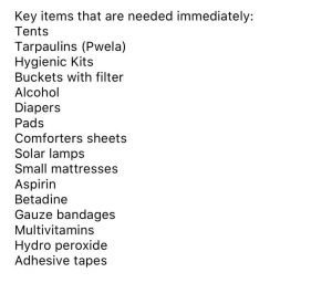 Urgent Supplies needed, can be dropped off at The Bear on Lewes Road or at either of Ed's kitchens in Brighton / Hove.