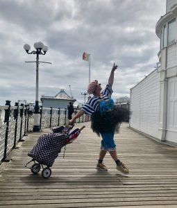 Brighton, clowns, seafront, pier, mindfulness