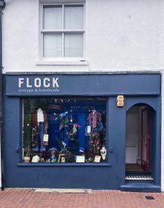 Flock, North Laines, Brighton, vintage shop clothes